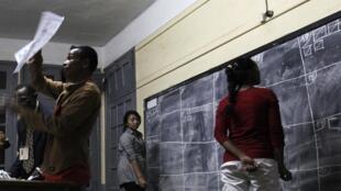 Un bureau de vote d'Antananarivo, en 2013.