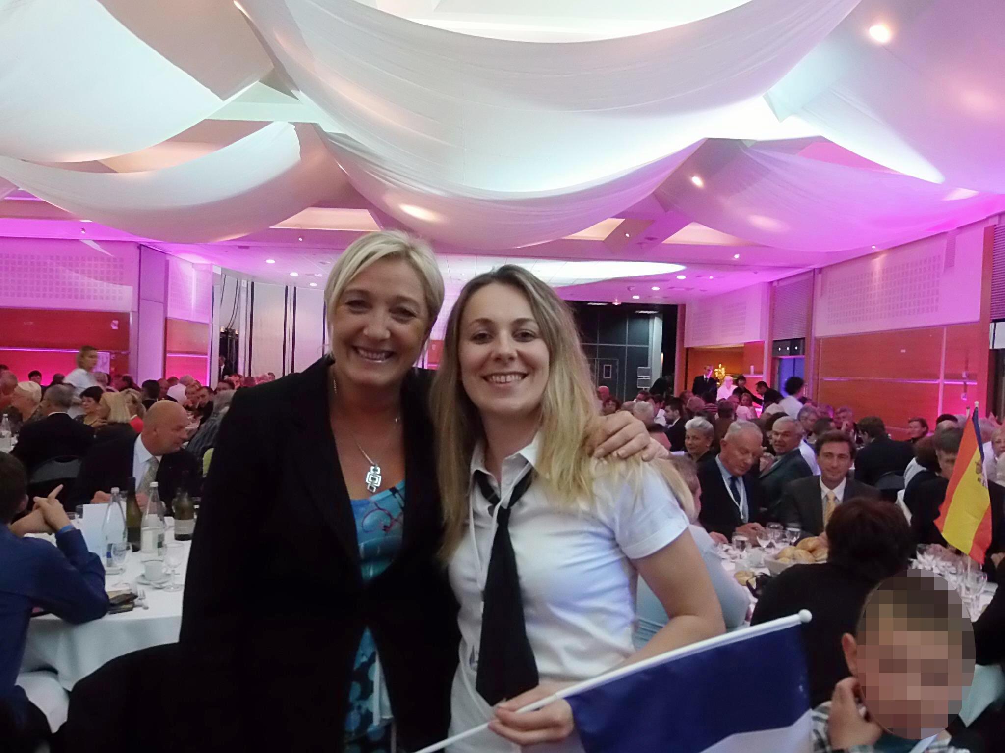 Front National leader Marine Le Pen (L) with Anne-Sophie Leclère