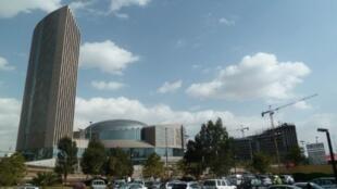 A nova sede da União Africana em Adis Abeba, Etiópia.