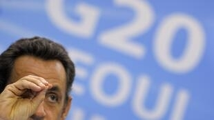President Nicolas Sarkozy took over the head of the G20 group of top economies this month