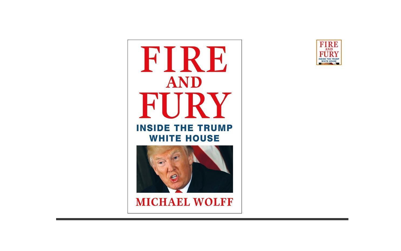 Bìa cuốn sách Fire and Fury: Inside the Trump White House. Ảnh chụp từ màn hình của Amazon.com.