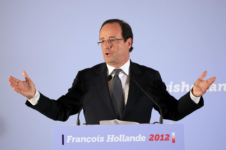François Hollande, candidato do Partido Socialista francês às eleições presidenciais de 2012.
