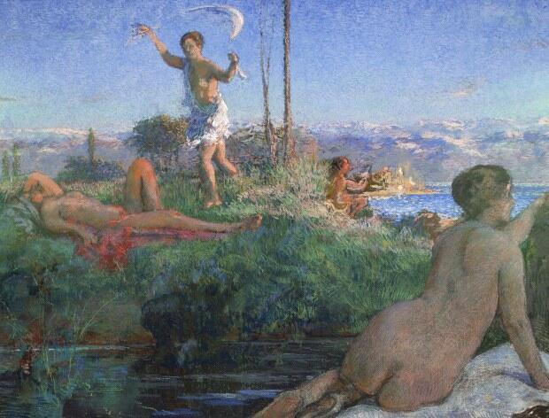 """آنتیب"""" اثر """"کِر اگزاویه روسل"""" نقاش فرانسوی قرن نوزده و بیست"""