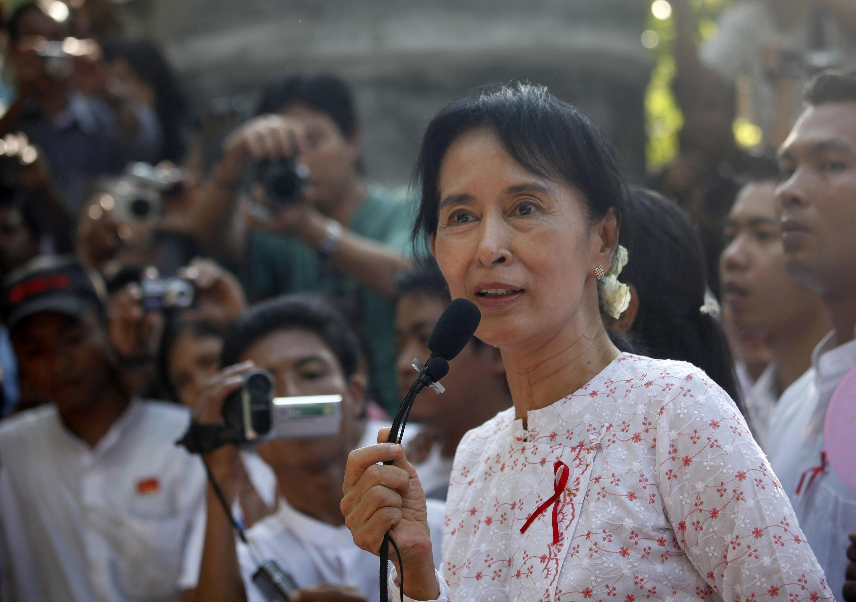 Aung San Suu Kyi, in Yangon, November 17, 2010