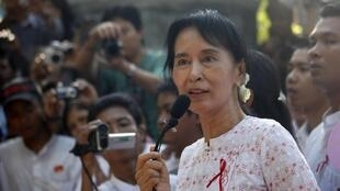 Aung San Suu Kyi, in Yangon, November 17, 2010
