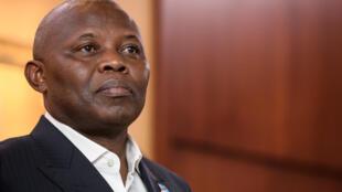 Vital Kamerhe, principal aliado del jefe de Estado de la República Democrática del Congo (RDC), en Ginebra el 11 de noviembre de 2018