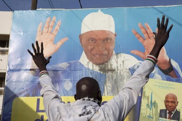 Le collectif « Y'en a marre ! » pendant la campagne contre le président Wade. 16 février 2012.