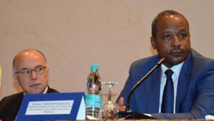 Hassoumi Massaoudou, ministre de la Défense du Niger à Niamey, le 14 mai 2015.