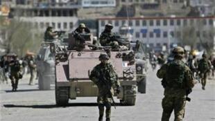 Italian soldiers in Kabul