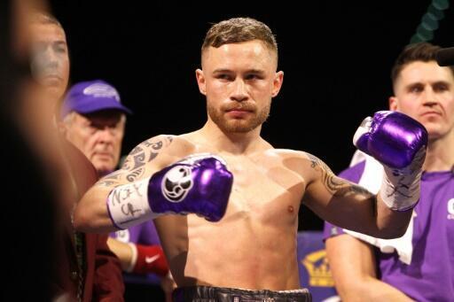 Le boxeur nord-irlandais Carl Frampton avant un combat contre le Mexicain Leo Santa Cruz, le 28 janvier 2017 à Las Vegas