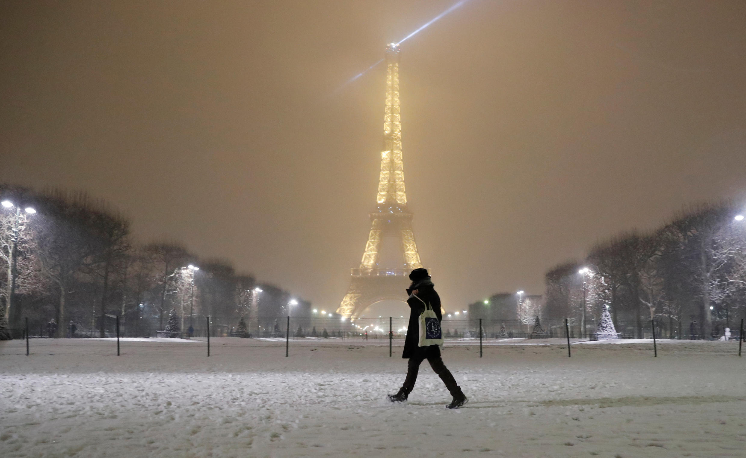 The Eiffel tower seen from the Champs de Mars on Wednesday