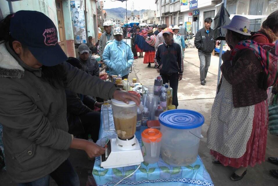 Sur certains marchés en Bolivie et au Pérou on peut acheter du «licuado de rana», boisson dans laquelle les grenouilles sont mixées vivantes.