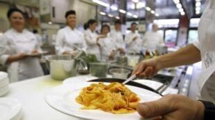 Foto de arquivo da escola de culinária da marca Barilla em Parma, na Itália.
