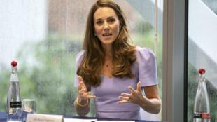 Catalina, duquesa de Cambridge, durante el lanzamiento de una fundación en Londres, el 18 de junio de 2021