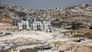Vista de una colonia israelí en Cisjordania, periferia de la ciudad palestina de Belén, 28 de septiembre de 2010.