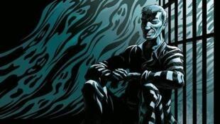 Détail de la couverture du Tome 2 de la bande dessinée «Le vagabond des étoiles», de Riff Reb's.