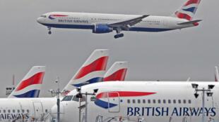 Avions de la British airways, à l'aéroport d'Heathrow, à Londres, le 20 mars 2010.