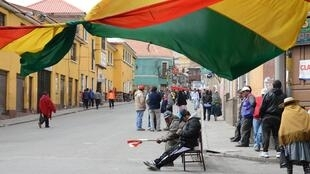 Les manifestants maintiennent le blocage de la ville de Potosi (ici le 15 juillet), depuis le début du mois de juillet.