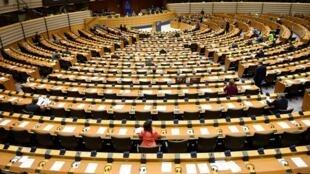 Le Parlement européen en session plénière à Bruxelles le 10 mars 2020.