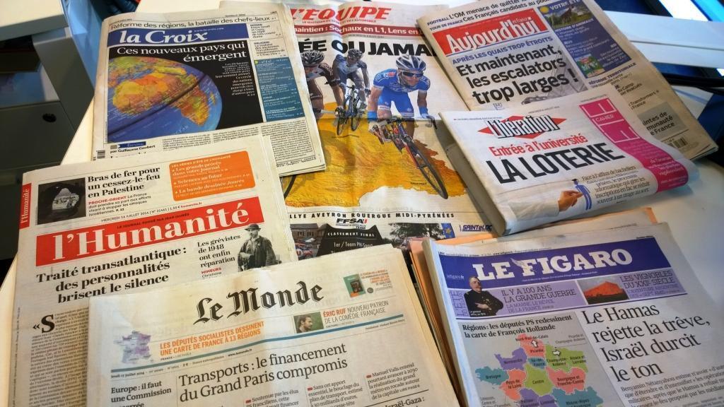 Diários franceses 16/07/2014