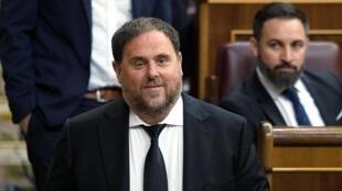 La Cour de justice de l'Union européenne a donné raison à l'indépendantiste catalan Oriol Junqueras actuellement incarcéré.