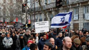 """Marcha Branca"" contra o anti-semitismo - Paris, 28 de Março de 2018"