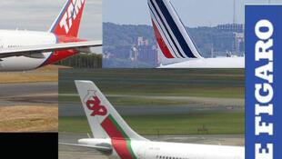As companhias aéreas TAP, Air France e TAM citadas no artigo do Le Figaro desta quarta-feira, 26.