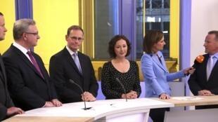 柏林地方选举各党候选人18日在电视台辩论
