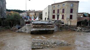 Наводнение в департаменте Од, Франция, 15 октября 2018.