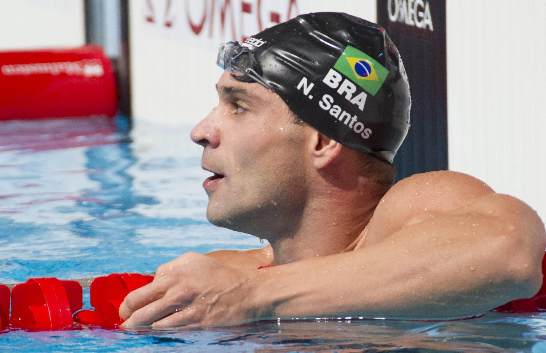 Nicholas Santos ganhou prata nos 50m borboleta em Budapeste