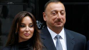 Le président azerbaïdjanais Ilham Aliyev et son épouse Mehriban à Londres, le 13 juillet 2009.