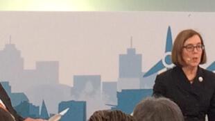 Conférence de la gouverneure Kate Brown.