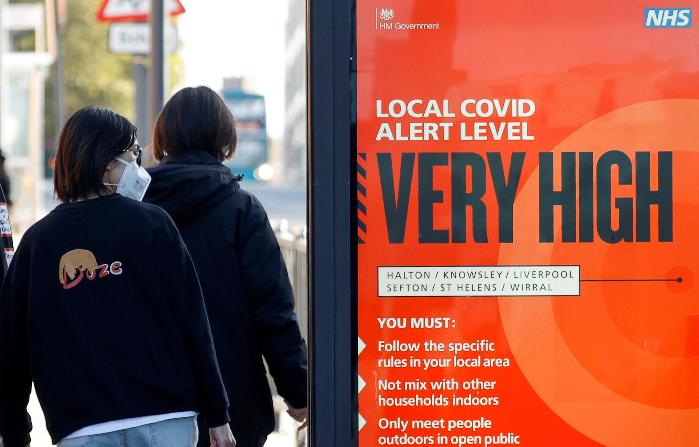 Liverpool est passé en zone à risque très élevée de contamination au coronavirus.