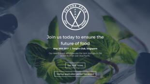 La page d'accueil du site  de «Future Food Asia Award».