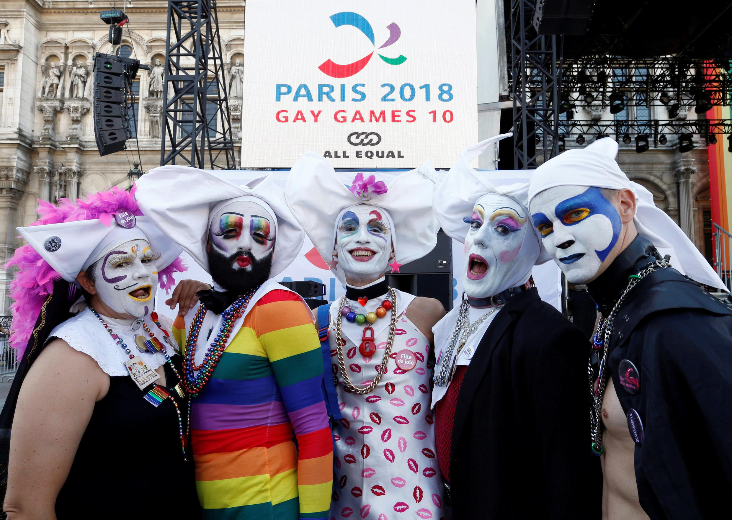 Participants at the 10th Gay Games in Paris