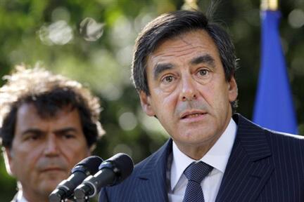 Le Premier ministre François Fillon, le 27 août 2009.