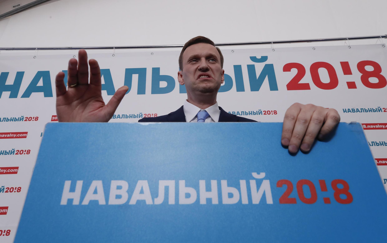 Navalny trong cuộc mít tinh ngày 24/12/2017 tại Matxcơva.