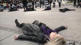 Одна из манифестаций протеста против семейного насилия. 2016 г.