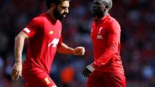 L'Égyptien Mohamed Salah et le Sénégalais Sadio Mané (Liverpool).
