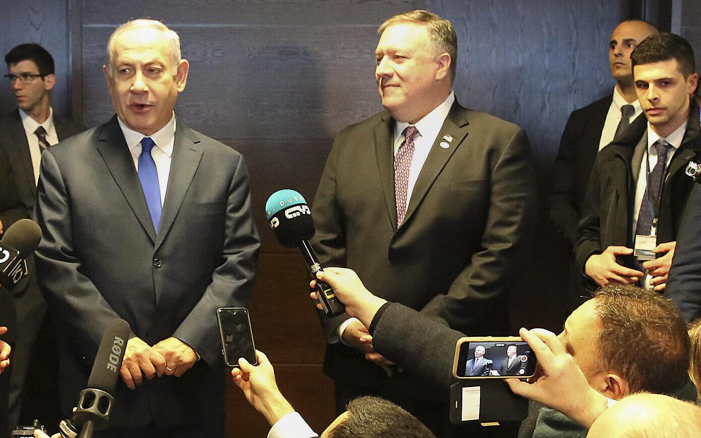 بنیامین نتانیاهو و مایک پمپئو