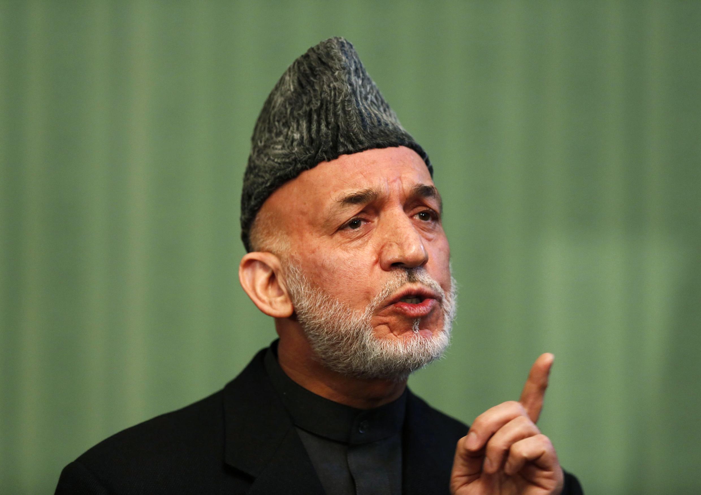 Rais wa Afghanistan anaeondoka madarakani, Hamid Karzai.