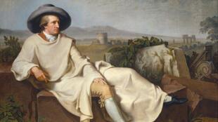 """Retrato de Goethe, en 1774 publicó la novela """"Las penas del joven Werther"""",  obra que tuvo un gran impacto entre los jóvenes, muchos intentaron suicidarse tras su lectura."""