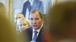Stefan Löfven, Premier ministre suédois, s'est prononcé pour la reconnaissance d'un Etat palestinien. 3 octobre 2014.