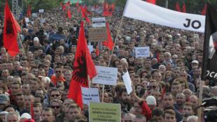 В Косово прошла многотысячная демонстрация против обмена территориями с Сербией