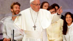 Giáo hoàng Phanxicô, tại Vatican, ngày 06/10/2018.