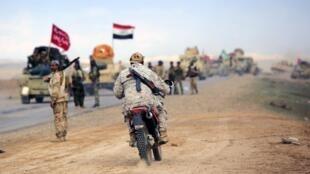 Vào lúc quân đội Irak tiến về Tikrit - ảnh chụp ngày 05/03/2015, lực lượng của tổ chức Nhà nước Hồi giáo đã phá hủy thành phố cổ Nimrud