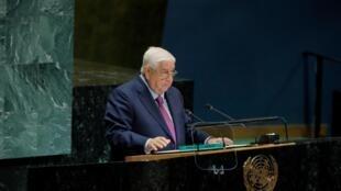 O chefe da diplomacia síria, Walid al-Moualem, discursa na 74ª Assembleia-geral da ONU.