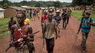 Anti-balaka militias in Gamba, south-east CAR in 2017