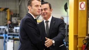 法国总统马克龙与资料图片