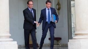 President Francois Hollande, Prime Minister Manuel Valls